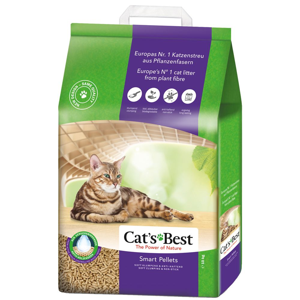 Cat's Best Nature Gold / Smart Pellets kattsand - 20 l (ca 9 kg)