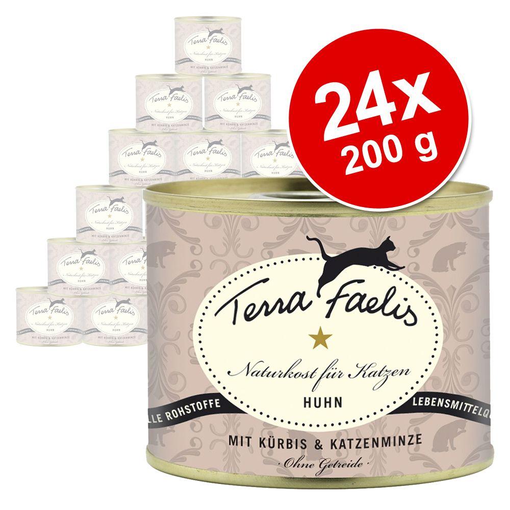 Sparpaket Terra Faelis Menü 24 x 200 g - Rind, Karotte & Brunnenkresse
