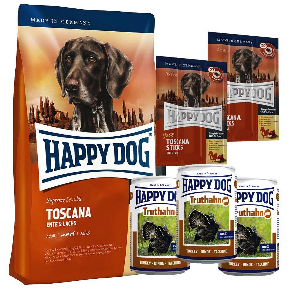 Testpaket Happy Dog Toscana Trocken- & Nassfutt...