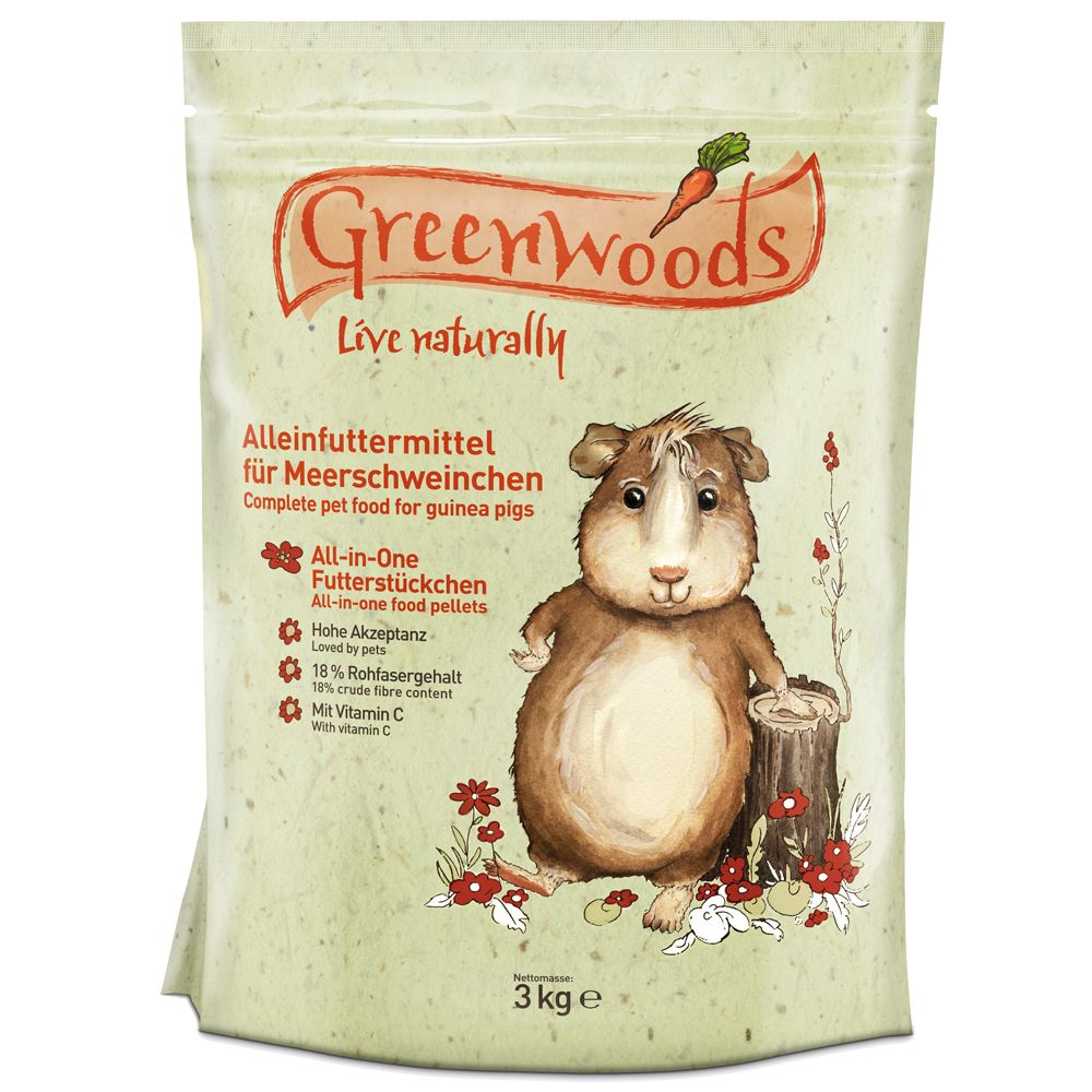 Cibo per porcellini d'India Greenwoods - 3 kg