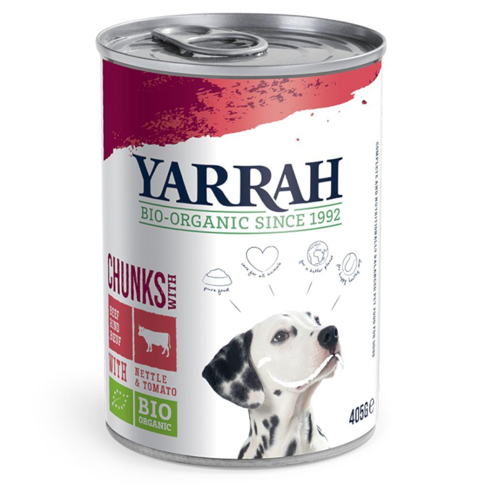 12 x 400/405g Bio Huhn-Mix, 3 Sorten Yarrah Hundefutter nass 8714265973925