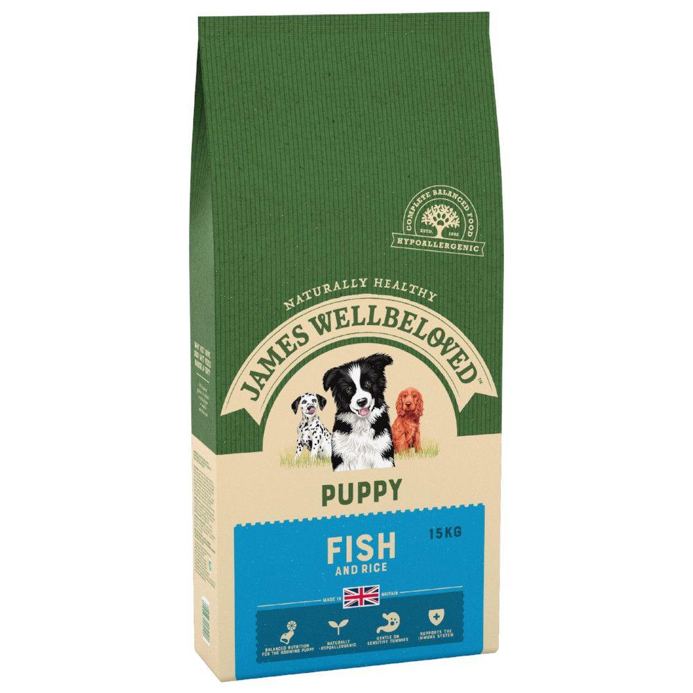 15kg Fish & Rice Puppy James Wellbeloved Dry Dog Food