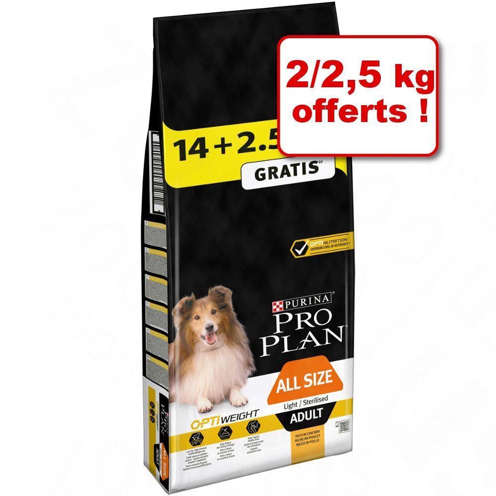 14+2,5kg offerts Large Adult Athletic, poulet Pro Plan Croquettes pour chien
