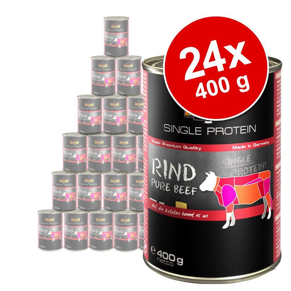 belcando single protein rind 24 x 400 g preisvergleich hundefutter g nstig kaufen bei. Black Bedroom Furniture Sets. Home Design Ideas