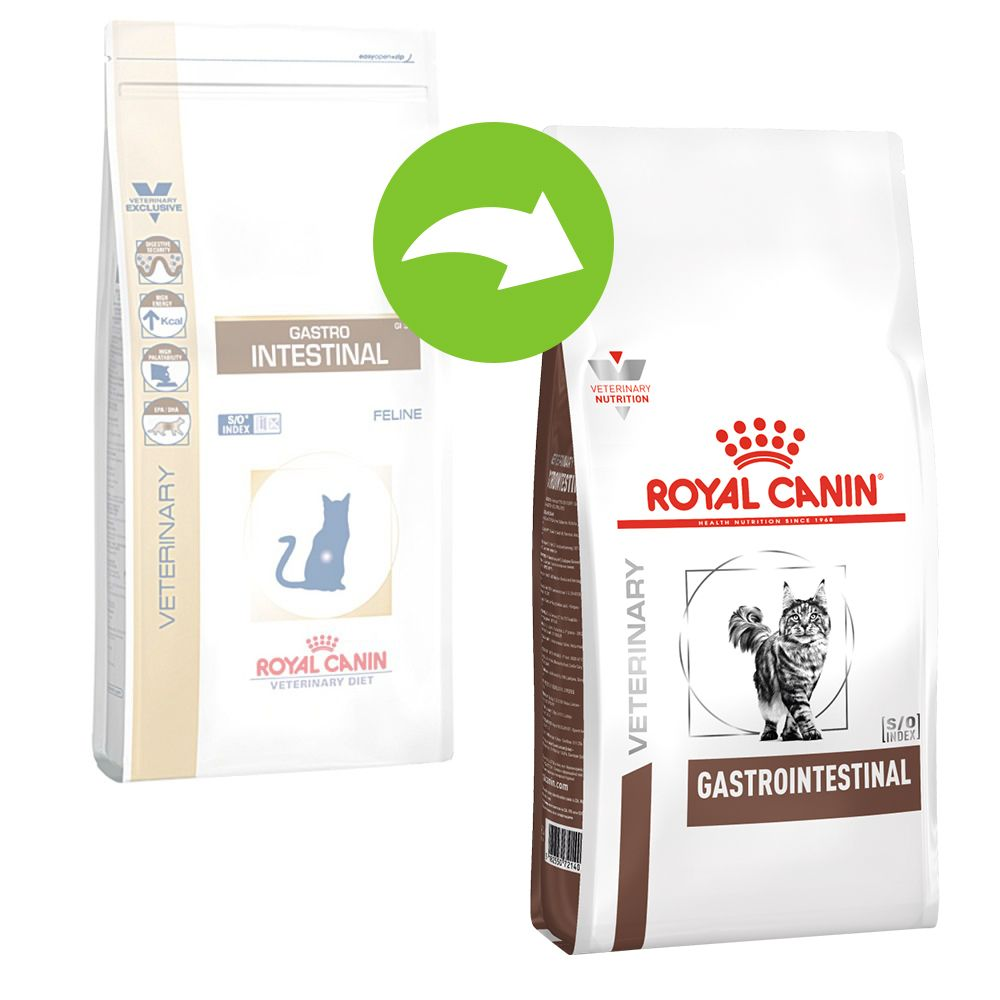 Royal Canin Veterinary Diet Feline Gastro Intestinal GI 32 - Ekonomipack: 2 x 4 kg