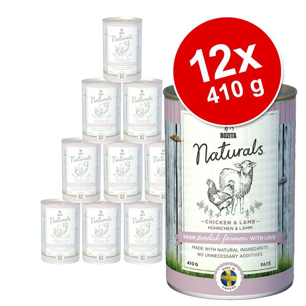 Pakiet Bozita Naturals Pate, 12 x 410 g - Pakiet mieszany: wołowina, renifer, indyk