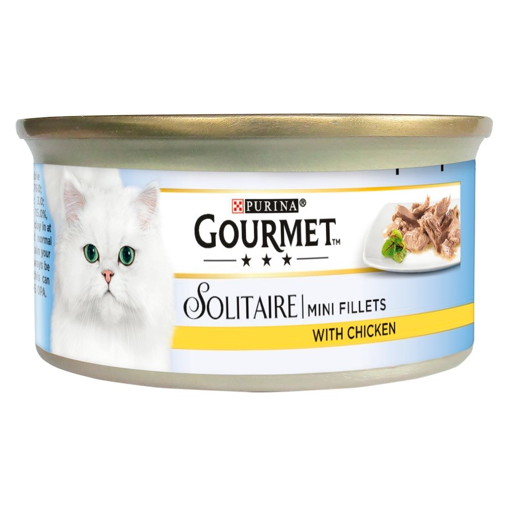 Beef in Tomato Sauce Solitaire Gourmet Wet Cat Food