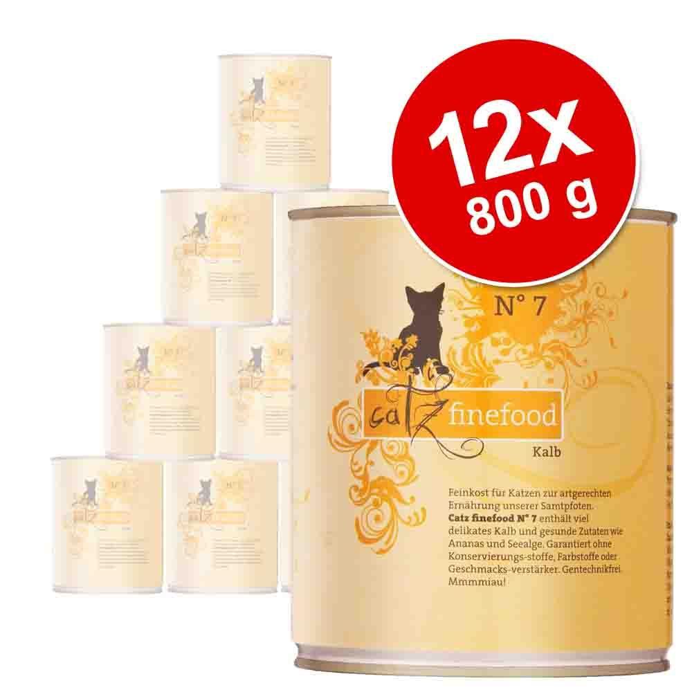 Catz Finefood w puszkach, 12 x 800 g - Pakiet 1