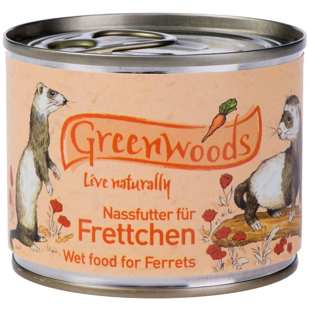 Greenwoods Nassfutter für Frettchen Huhn - 6 x ...