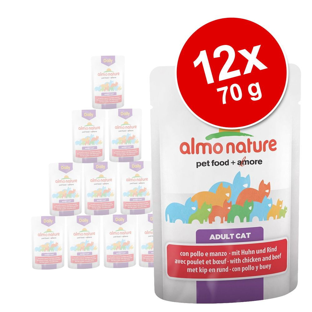 Sparpaket Almo Nature Daily Menu Pouch 12 x 70 ...