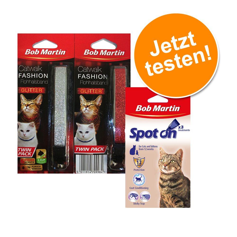 Bob Martin Sparsets - Ungezieferschutz Katze - 3er Set Spot on + Halsband + Spray