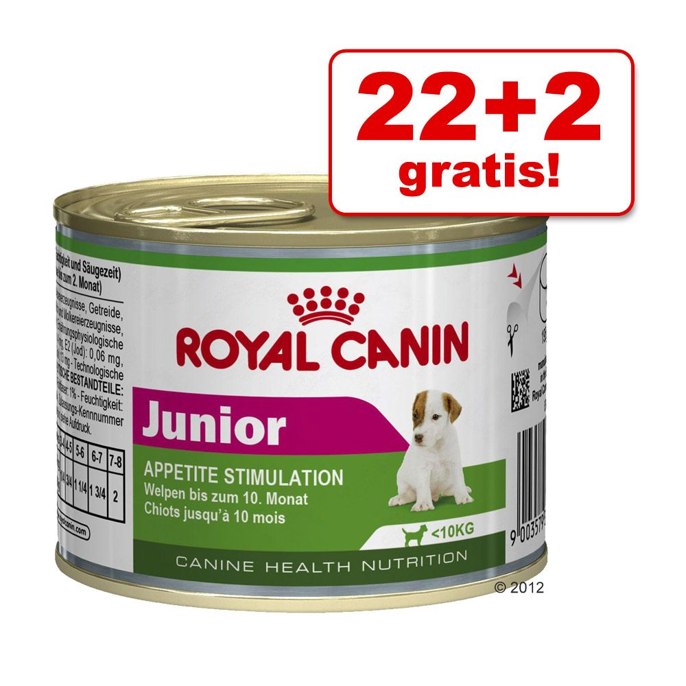 22 + 2 gratis! Royal Canin Mini, 24 x 195 g - Mature + 8
