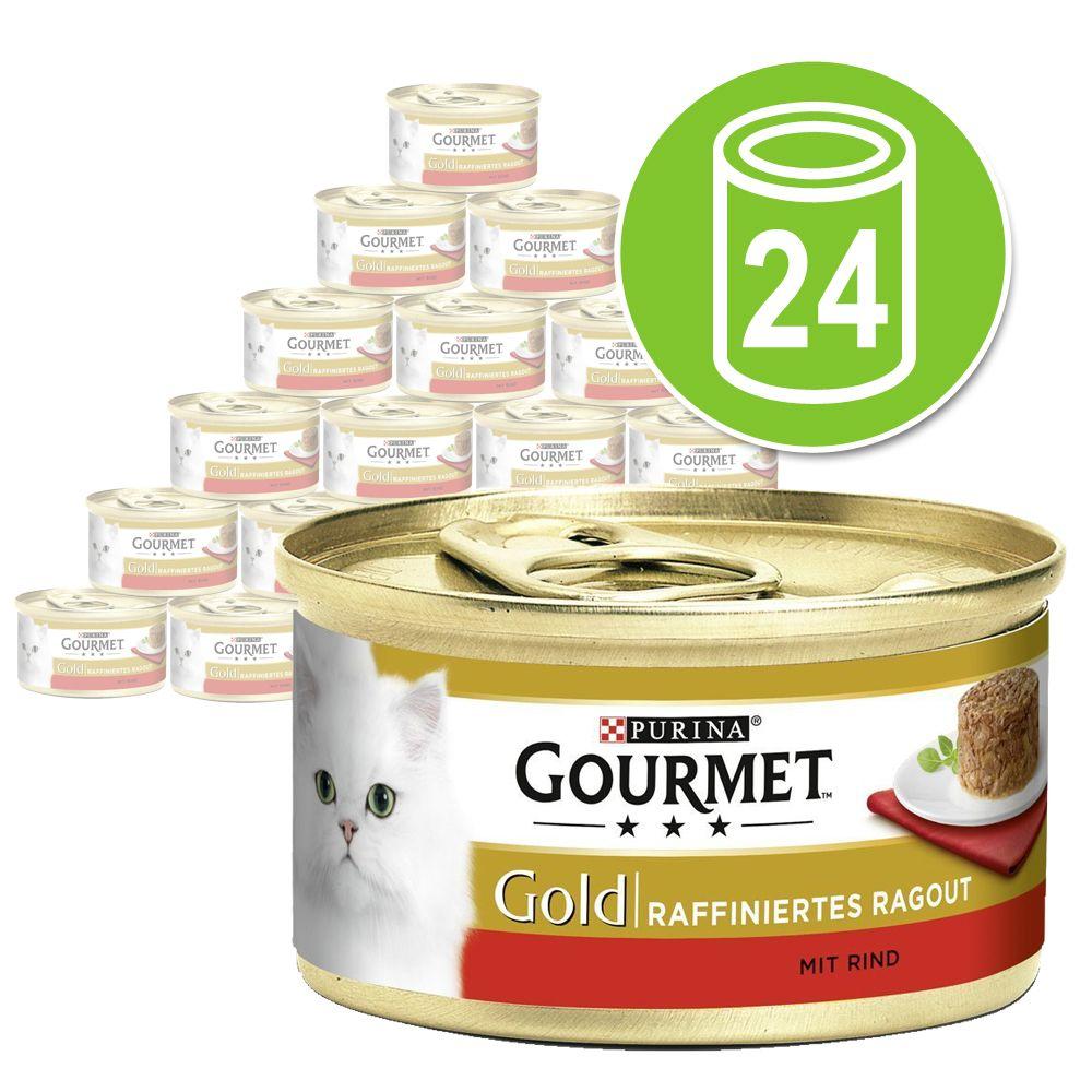 Ekonomipack: 24 x 85 g Gourmet Gold Ragout Lax & pollock