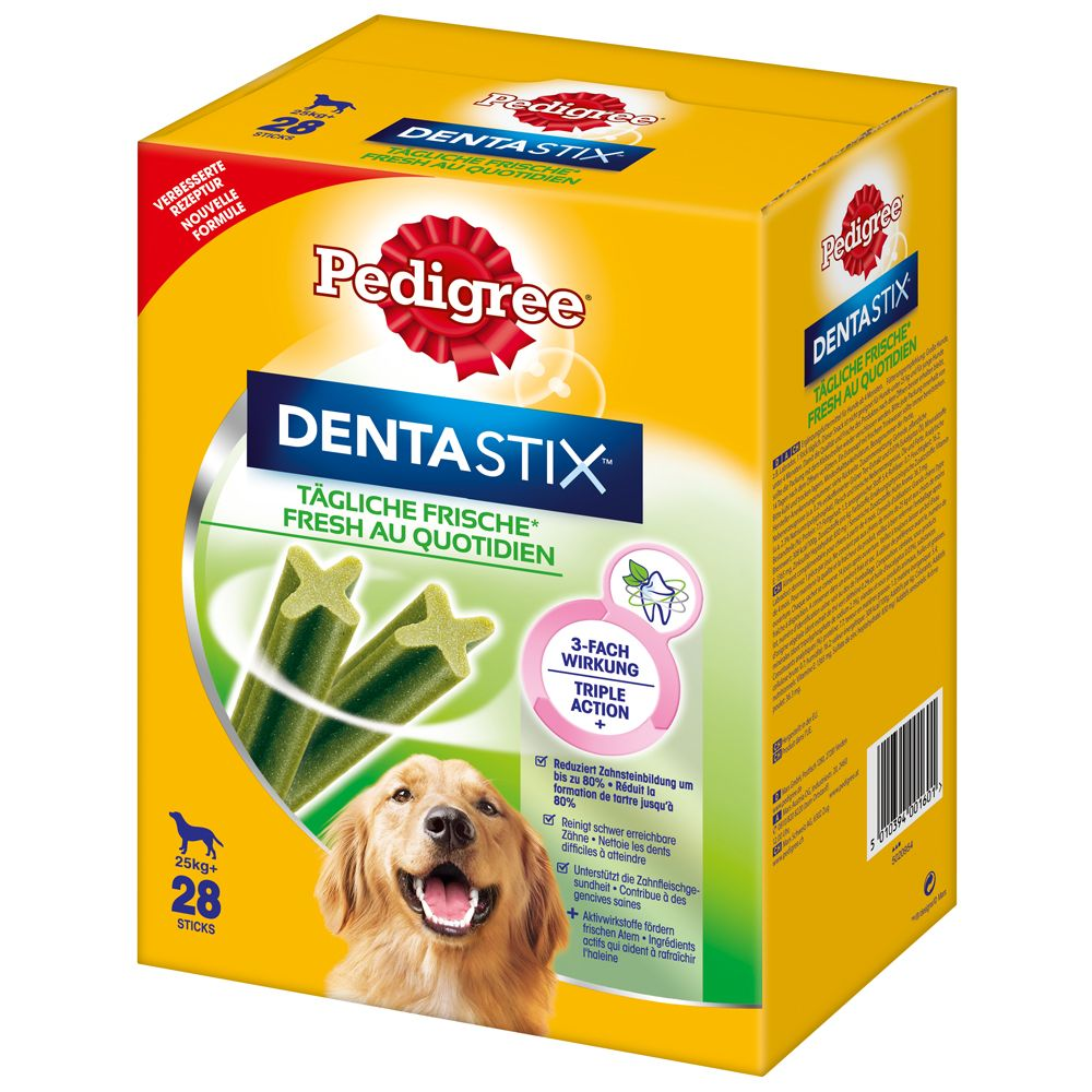 140 x Pedigree Dentastix Fresh - Daily Freshness - 112 + 28 Free!* - Large Dogs (140 Sticks)