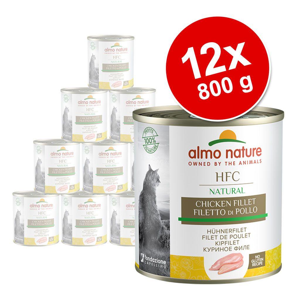 Ekonomipack: Almo Nature HFC 12 x 280 g - Kyckling & lax