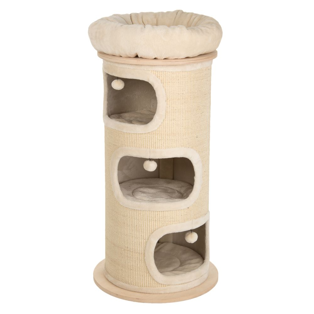 The Natural Paradise Scratch Barrel XXL - Premium Edition not only looks great, it also provides your cat with endless possibilities to sleep and play. The light-c...