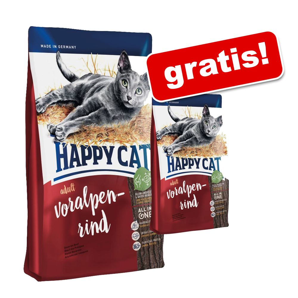 Happy Cat 10 kg oder 2 x 4 kg + 1,4 kg Happy Ca...