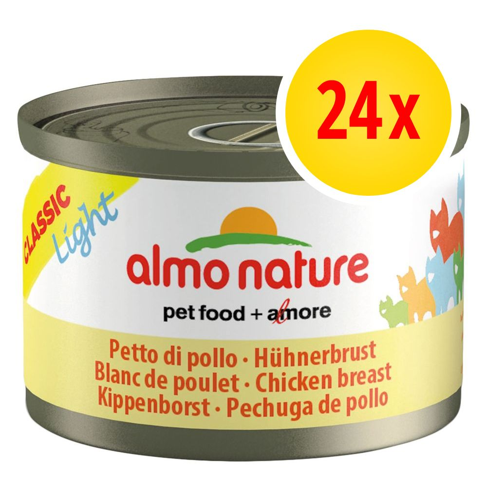 Image of Almo Nature Light Sparpaket 24 x 50 g - Hühnerbrust