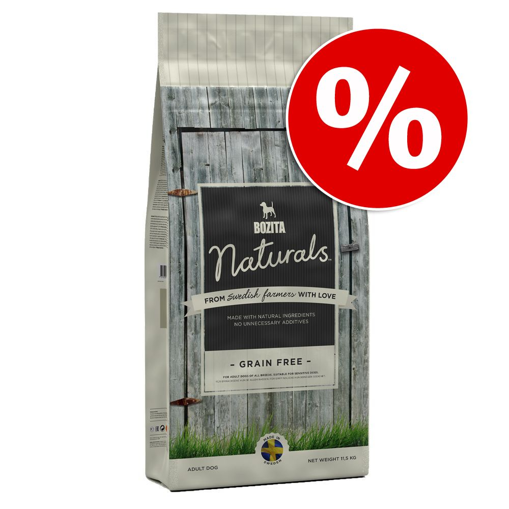 Duże opakowanie Bozita Naturals w super cenie! - Grain Free, 11,5 kg