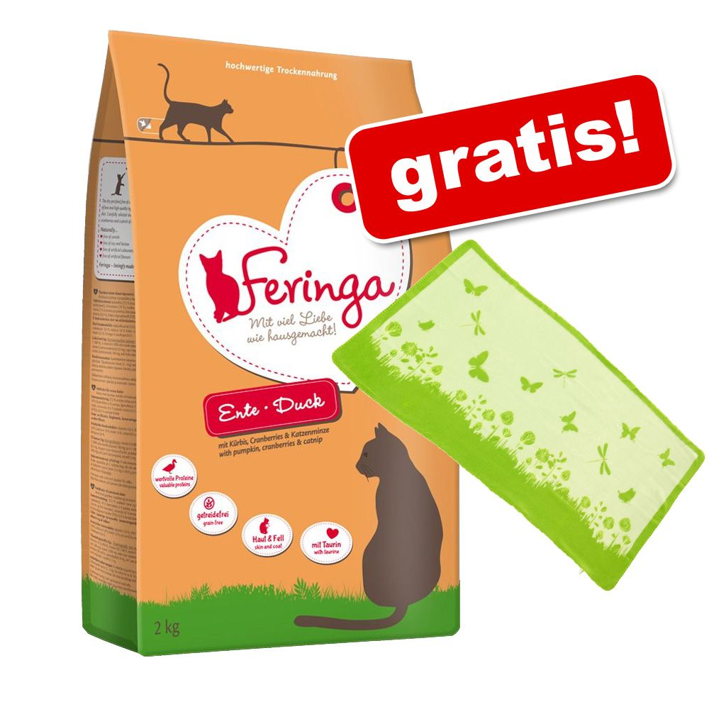 6 kg Feringa sucha karma dla kota + Kocyk Summer Party gratis! - Sterilised, drób
