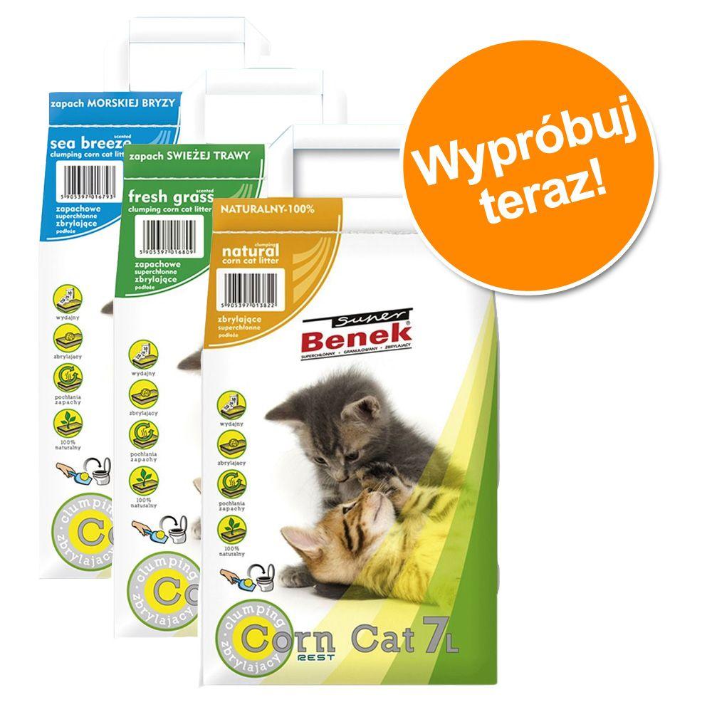 Mieszany pakiet próbny Benek Super CORNCat, 3 x 7 l - 3 x 7 l