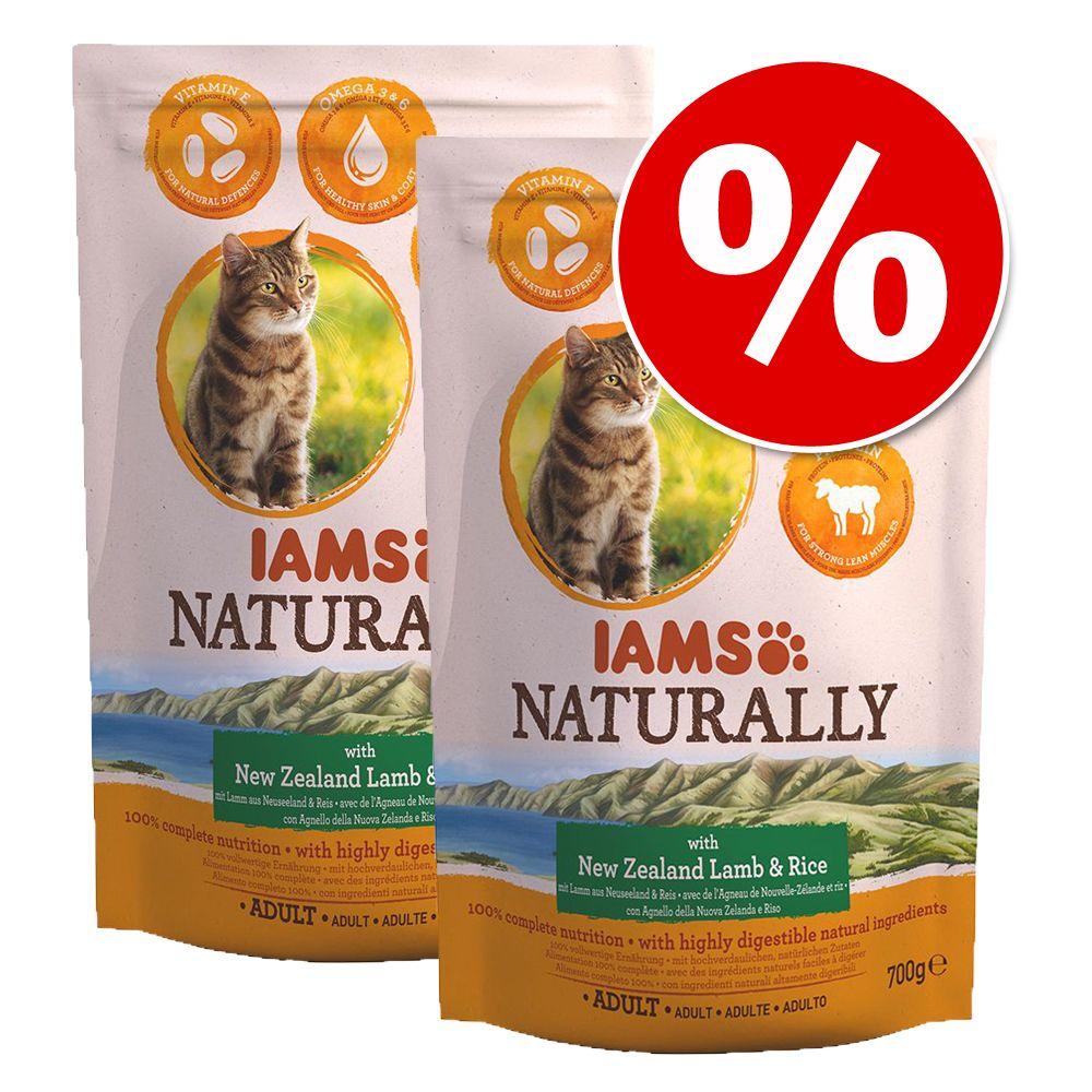 Ekonomipack: IAMS Naturally Cat Adult 2 x 2,7 kg - Lamb