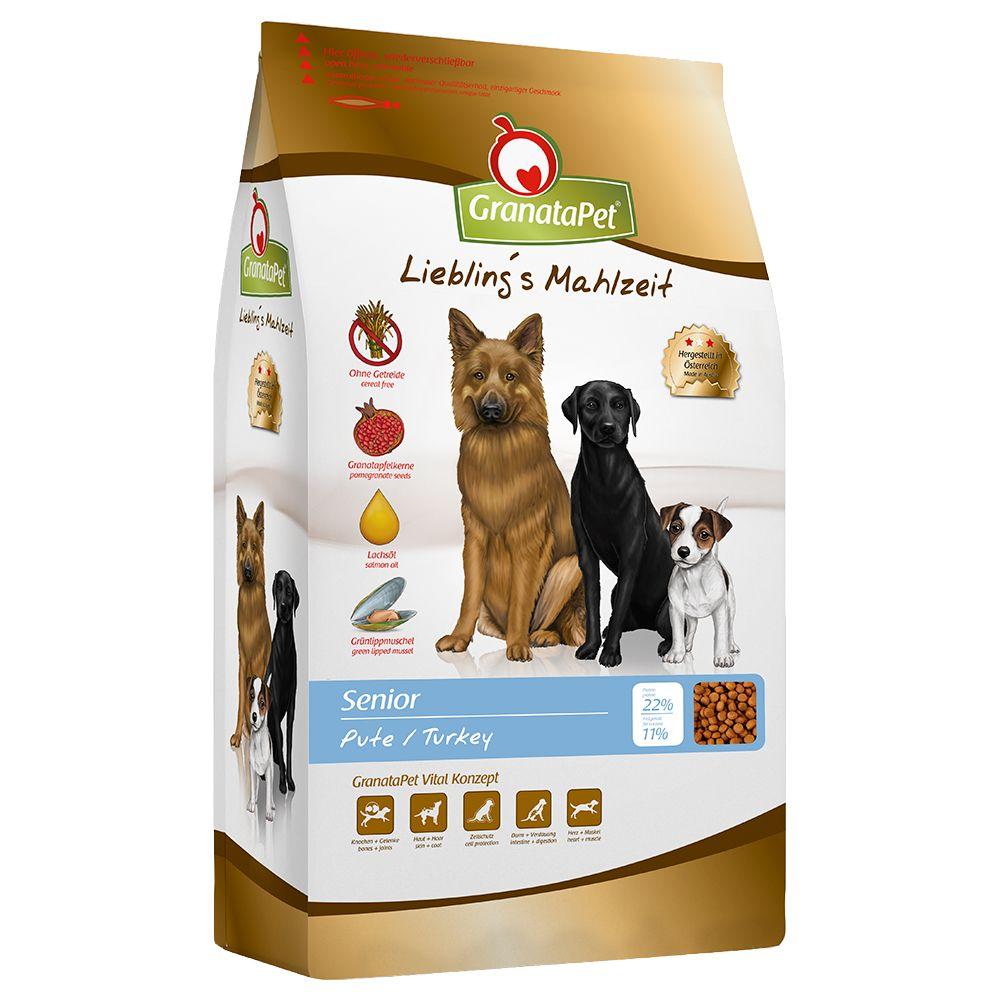 10kg Liebling's Mahlzeit Senior, dinde GranataPet pour chien
