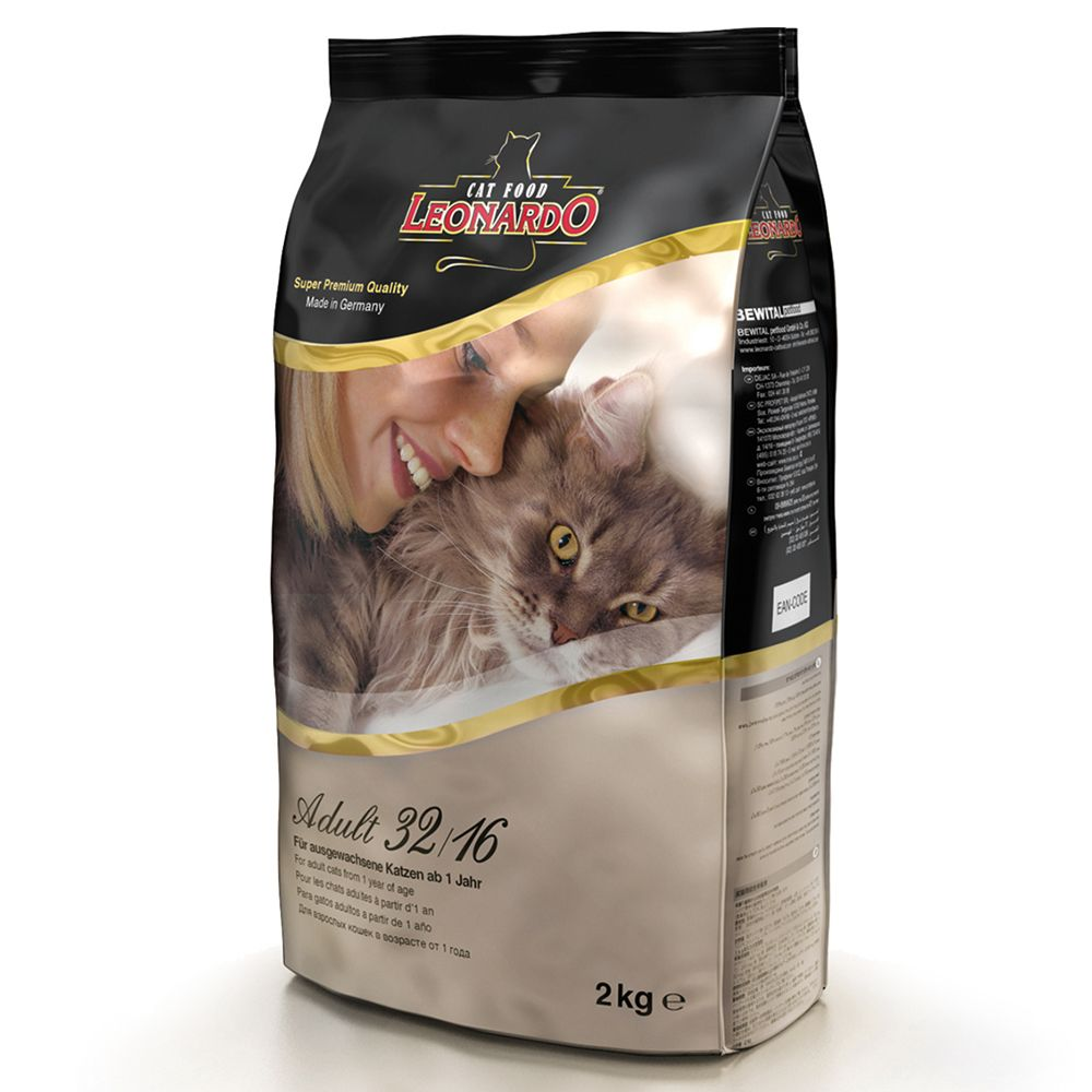 Leonardo Adult 32/16 Dry Cat Food - 15kg