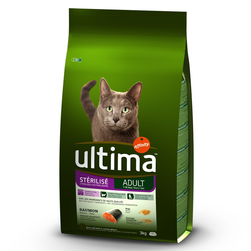 Salmon & Barley Adult Sterilised Affinity Ultima Dry Cat Food
