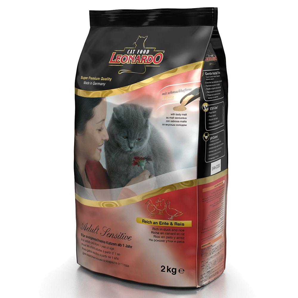 Leonardo Adult Sensitive Duck & Rice Dry Cat Food - Economy Pack: 2 x 15kg