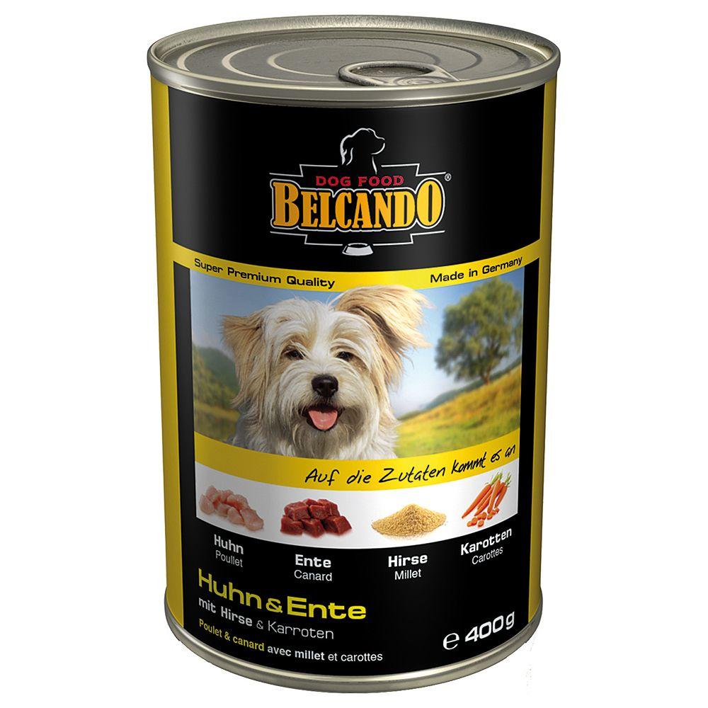 Belcando Super Premium 6 x 400 g - Huhn & Ente mit Hirse & Karotten