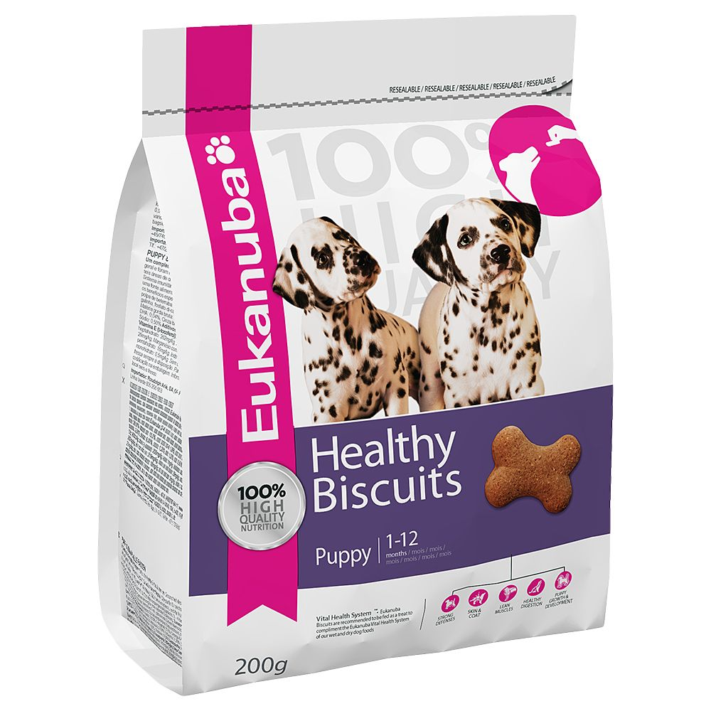 Eukanuba Healthy Biscuits - Puppy & Junior - Saver Pack: 3 x 200g