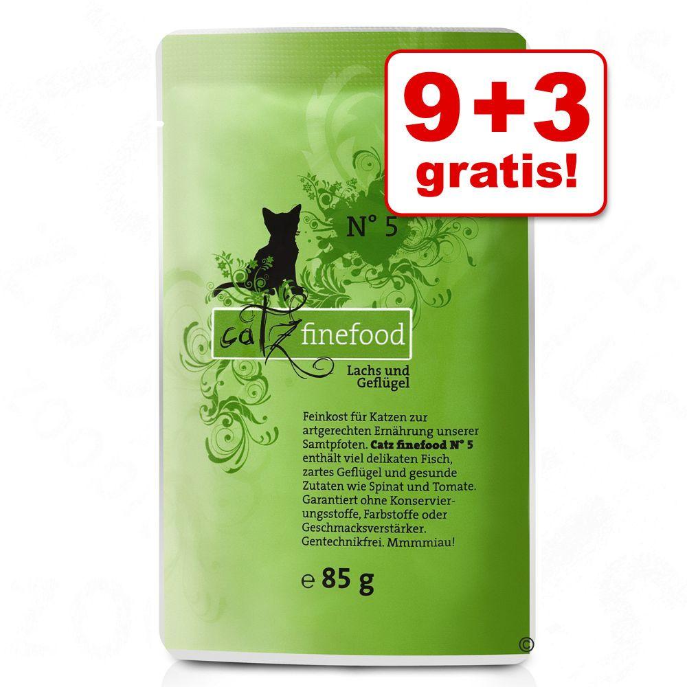 9 + 3 gratis! Mieszany pakiet Catz Finefood w saszetkach, 12 x 85 g - Pakiet 1
