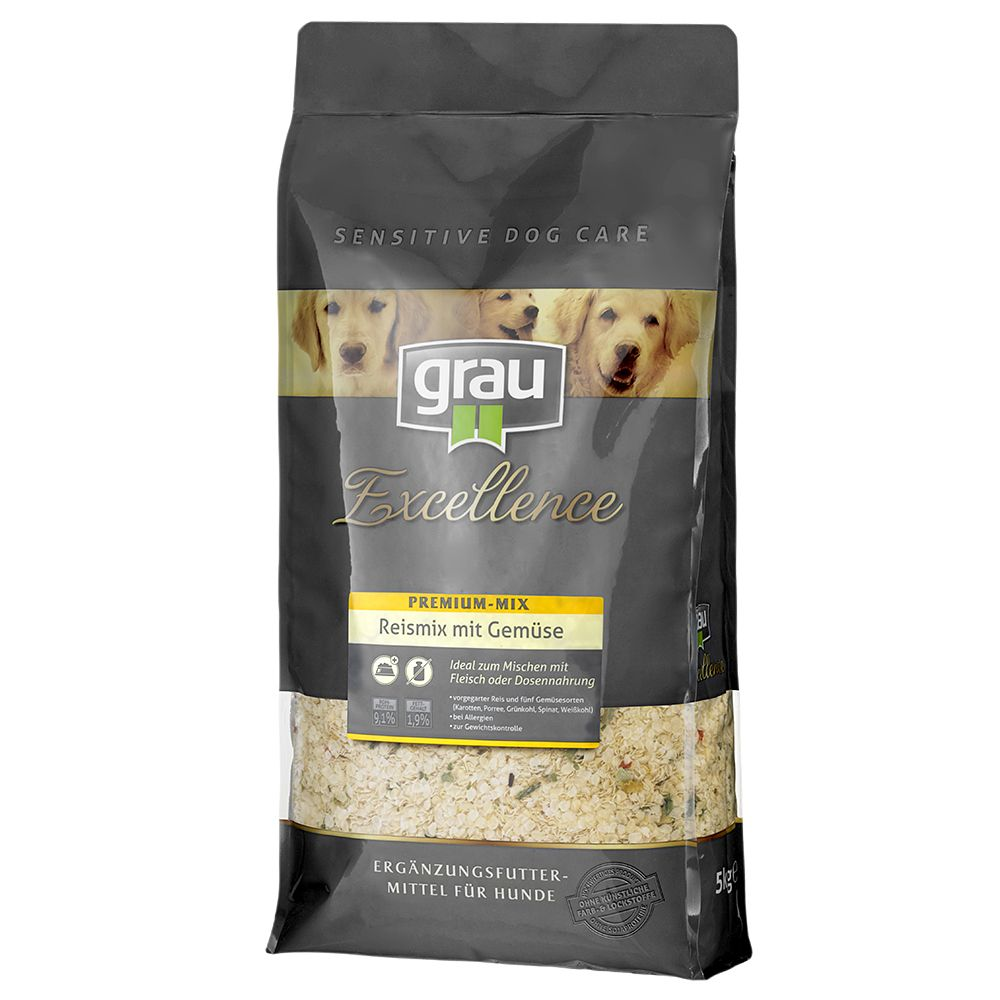 The top quality Grau Excellence Premium Rice Mix with Vegetables contains precooked rice and 5 different varieties of vegetables. This easily digestible supplement...