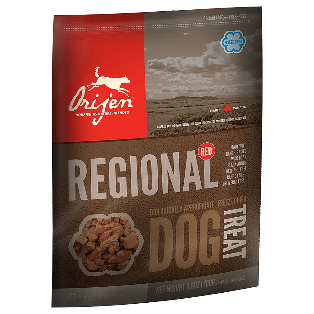 Orijen Regional Red Dog Snacks - Saver Pack: 3 x 100g
