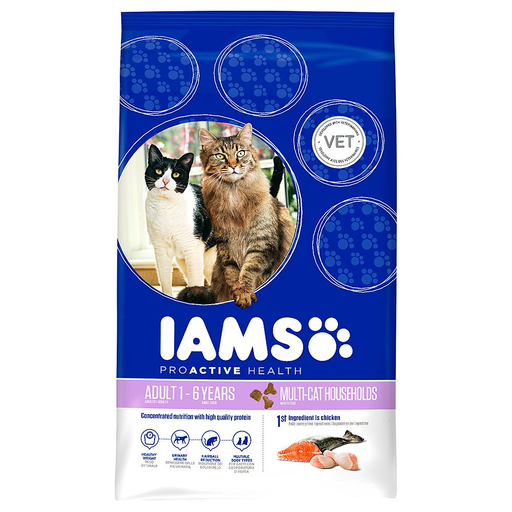 Iams Dry Cat Food Economy Packs - Multi-Cat Salmon & Chicken 2 x 15kg