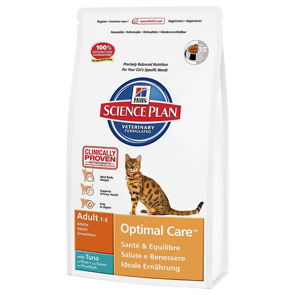 Hill's Science Plan Dry Cat Food Economy Packs - Adult Optimal Care Chicken 2 x 10kg