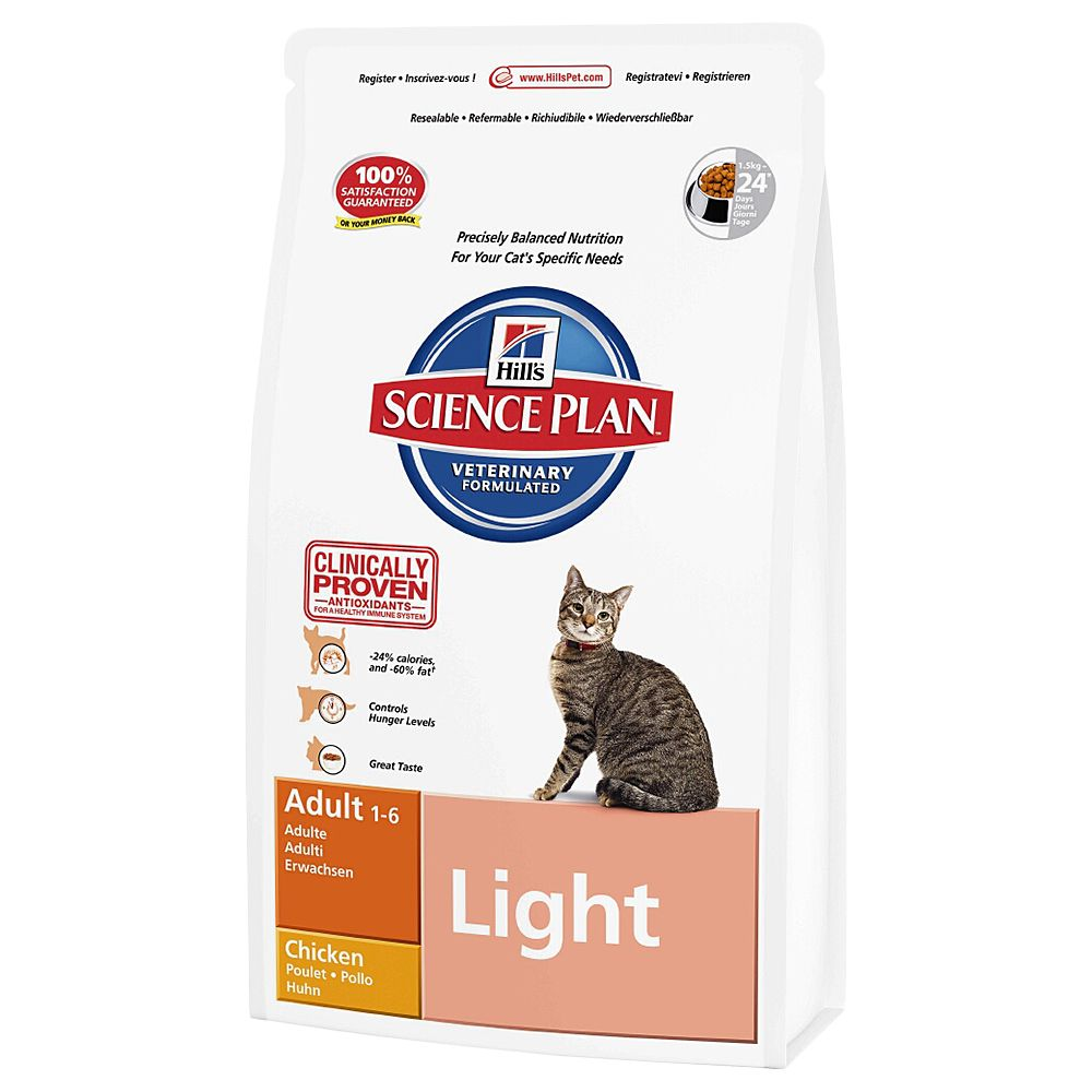 Hill's Science Plan Adult Cat Light - Chicken - Economy Pack: 2 x 10kg