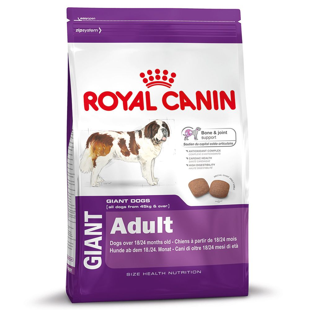 Adult dogs of giant breeds (over 45kg) require kibble of a special size and shape which encourage slow and intensive chewing. Giant dogs may weigh up to 100kg, so ...