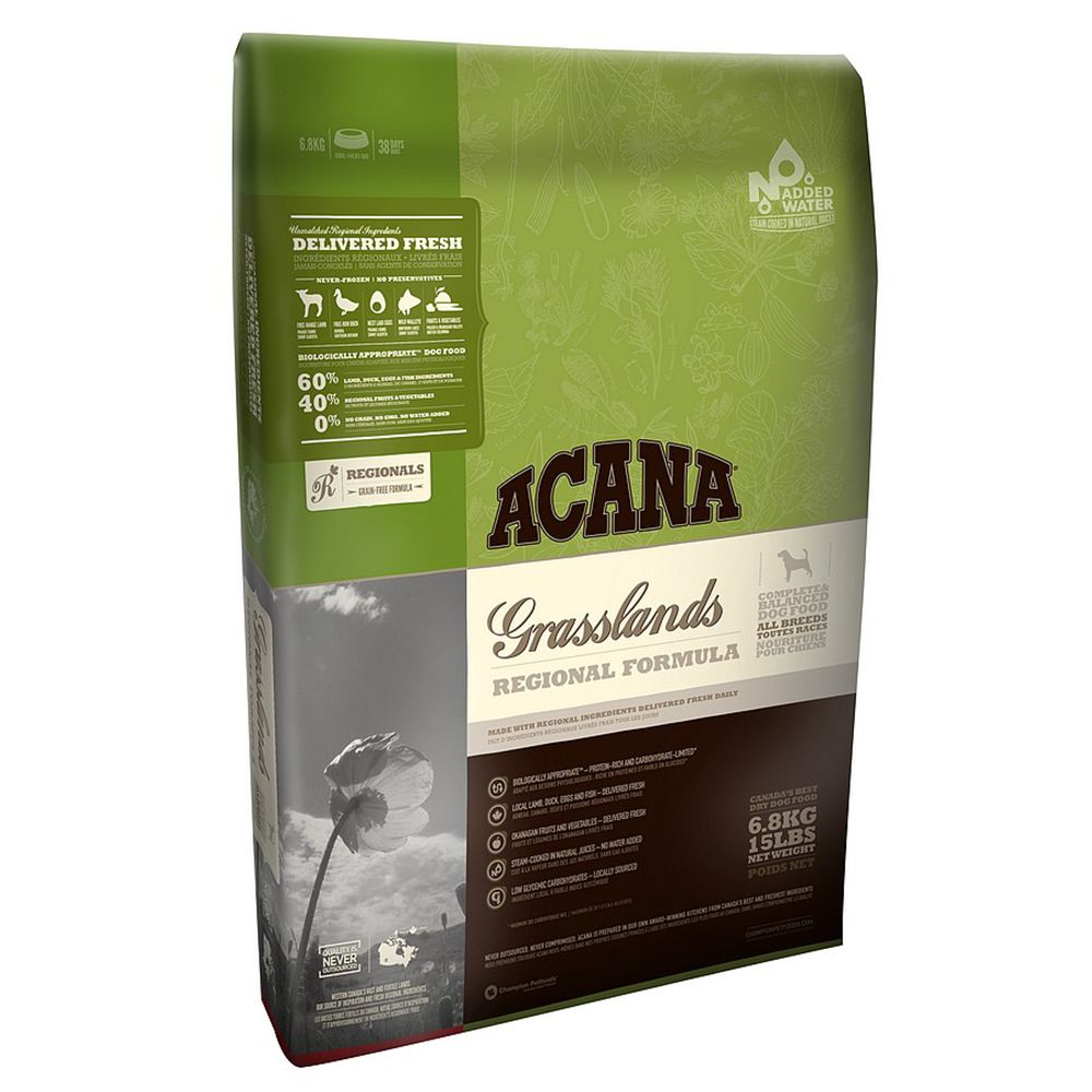 Acana Regionals Grasslands is based on the WholePrey™ principle. It is a biologically-appropriate, complete dry dog food which contains fresh meat, organs and cart...
