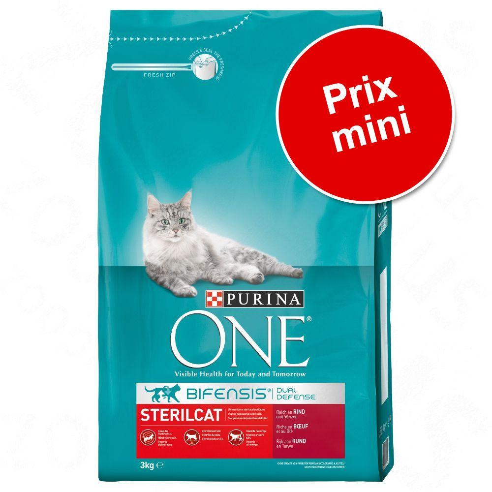 Croquettes Purina One 3 kg : à prix mini ! - SterilCat bœuf (3 kg)