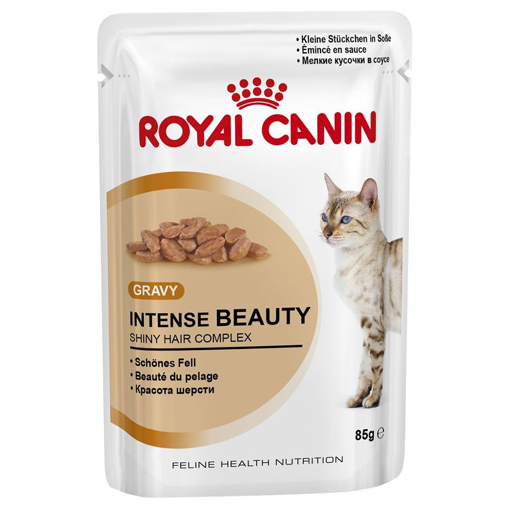 Royal Canin Intense Beauty in Gravy - Saver Pack: 48 x 85g