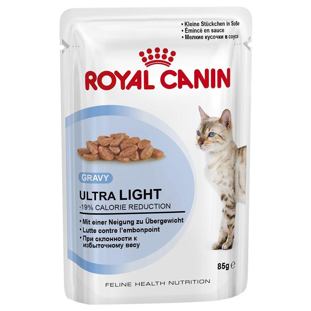 Royal Canin Ultra Light in Gravy - Saver Pack: 48 x 85g