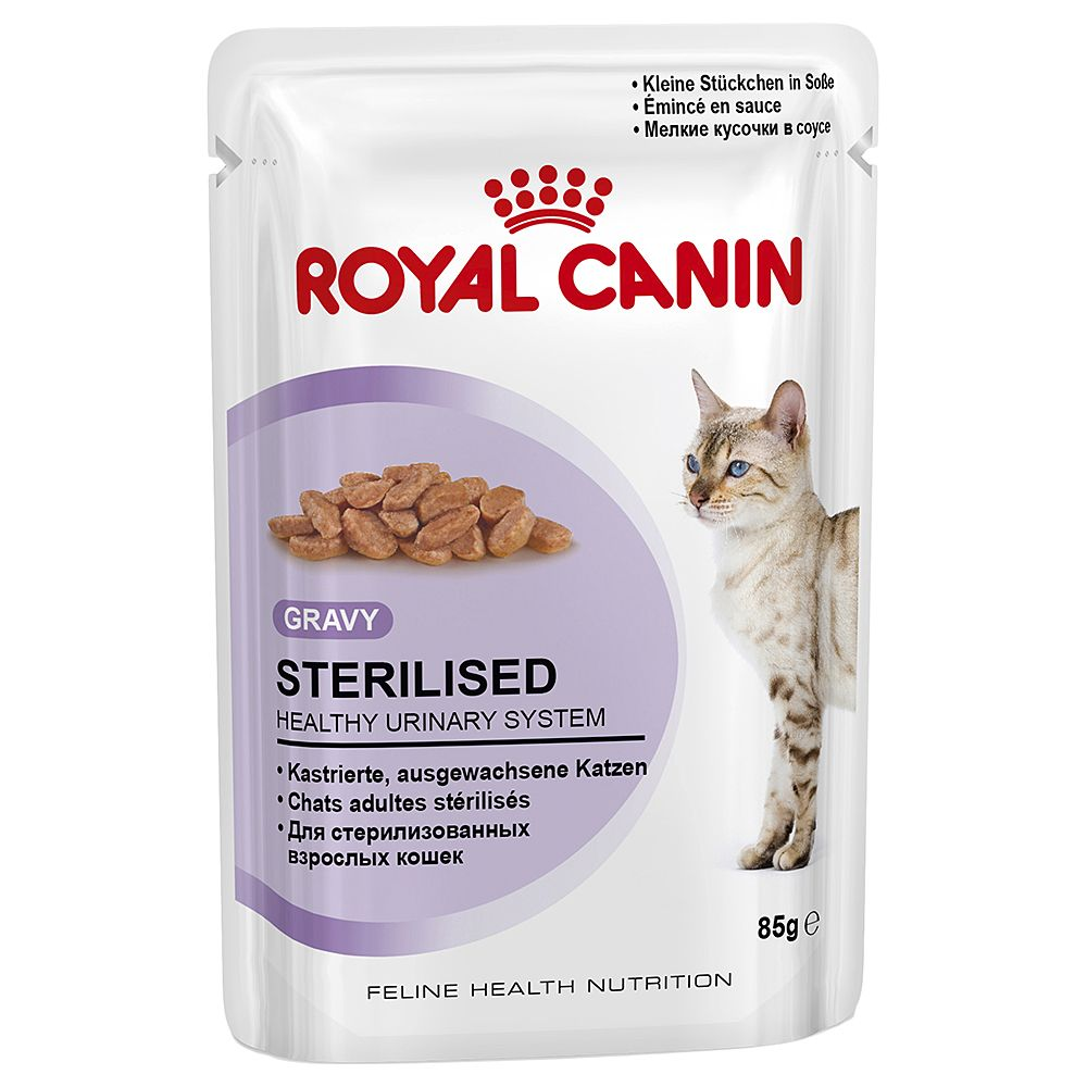 Royal Canin Sterilised in Gravy - Saver Pack: 48 x 85g