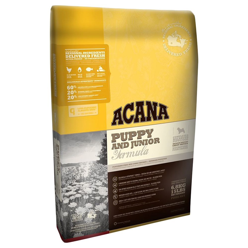 Acana Puppy & Junior Dry Dog Food - 17kg