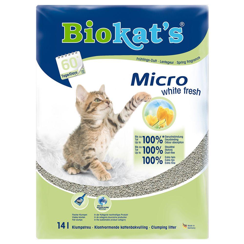 Biokat's Micro White Fresh Cat Litter - 14l