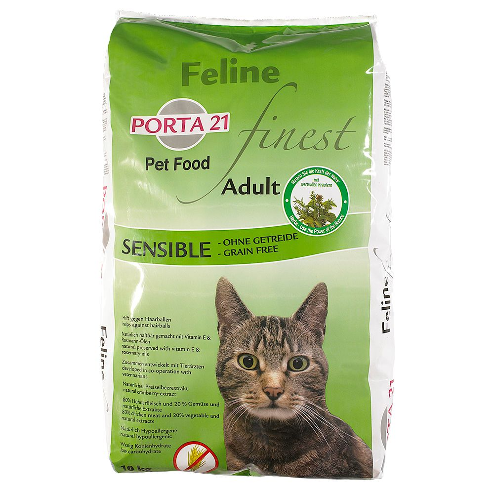 2x2kg Sensible Grain Free Porta 21 Feline Finest Dry Cat Food