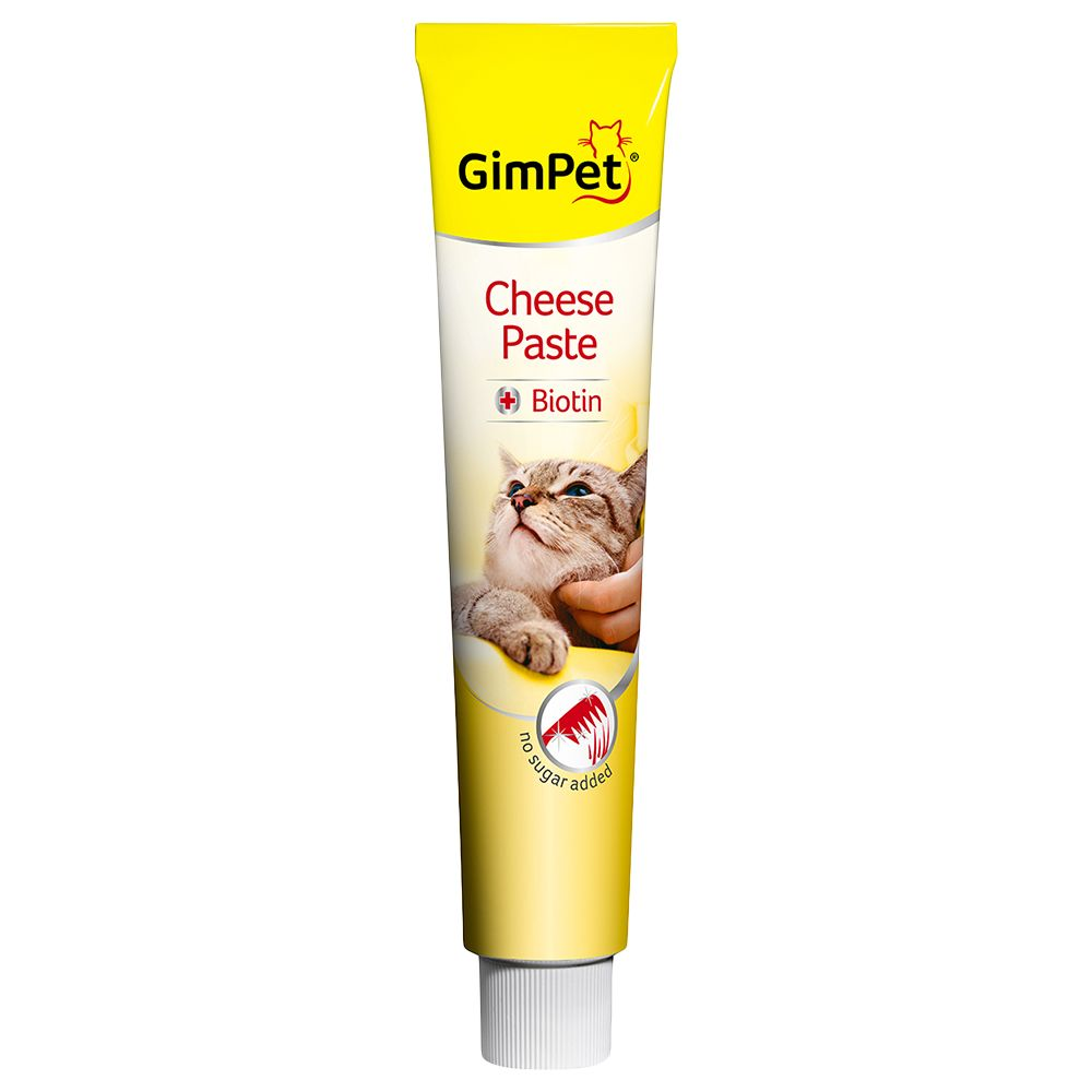 50g GimCat Cheese Paste with Biotin + 40g Cheese Rollies Free!* - Cheese Paste with Biotin (50g) + Cheese Rollies (40g)