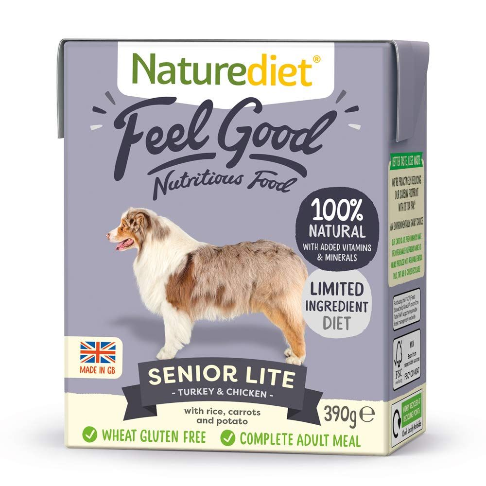 Turkey & Chicken Naturediet Feel Good Senior Wet Dog Food