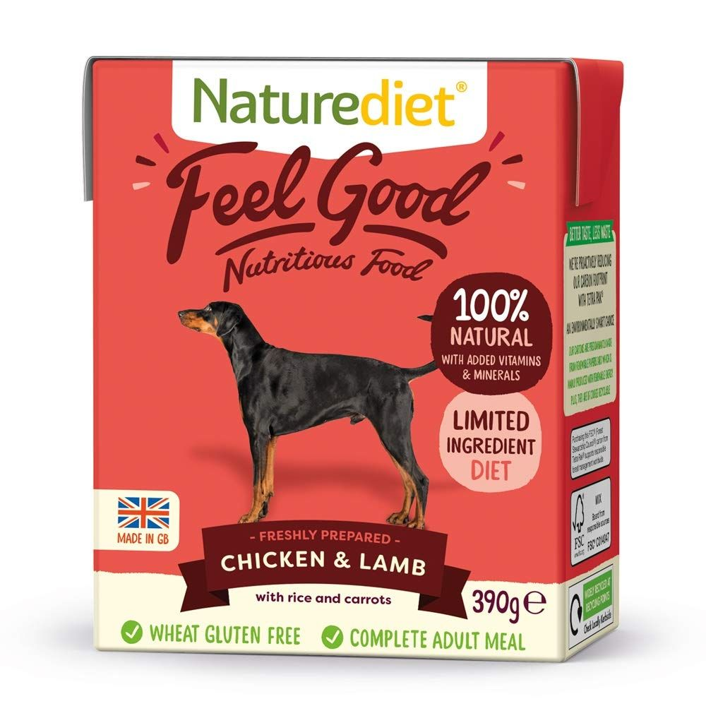 Chicken & Lamb Naturediet Feel Good Adult Wet Dog Food